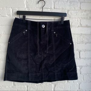 Athleta Black Corduroy Skirt Sz 6